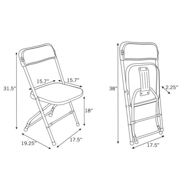 Tremendous White Folding Chairs Uwap Interior Chair Design Uwaporg