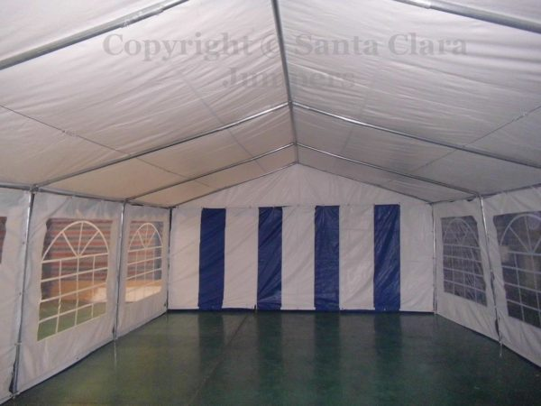 inside party tent